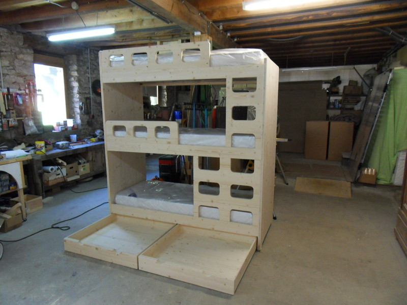 lit superpose 3 places 2 vercors literie. Black Bedroom Furniture Sets. Home Design Ideas