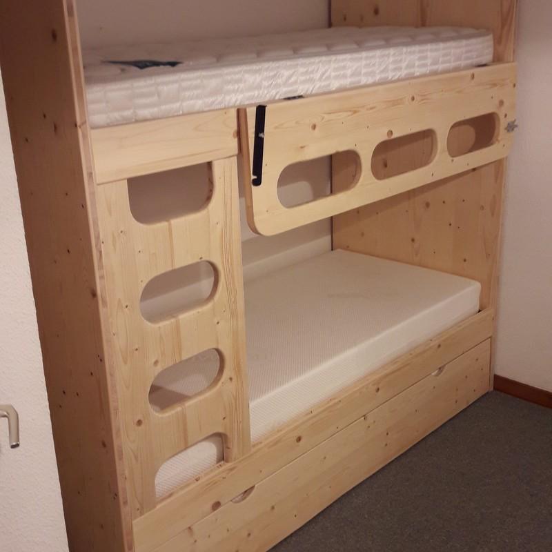 lit superpos avec gigogne teinte naturel vercors literie. Black Bedroom Furniture Sets. Home Design Ideas